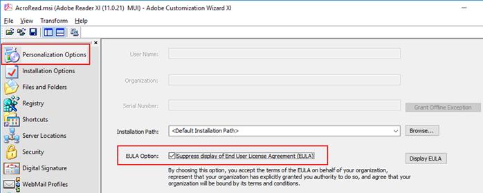 Creazione msi per Adobe Reader 11 0 21 – DevAdmin Blog